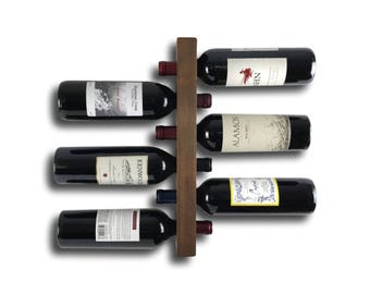 Wood Wine Storage - Wood Wine Rack - Wall Mount / Modern & Minimalist Home Decor