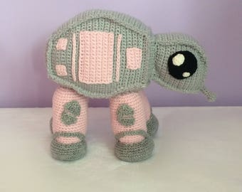 Star Wars AT-AT Walker, crochet Star Wars, geek crochet, geek baby, made to order Star Wars crochet, personalised, customised, crochet baby