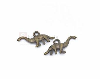 20pcs 3D Dinosaur Charm, 27*13mm, Dinosaur Pendant, Antique Silver/ Antique Bronze
