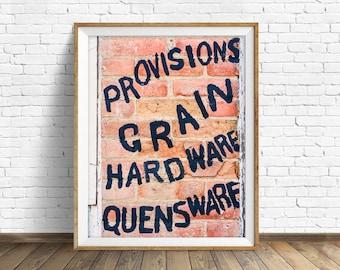 "typography art prints, typography wall art, instant download printable art, downloadable prints, quote prints, print - ""Grain and Hardware"""