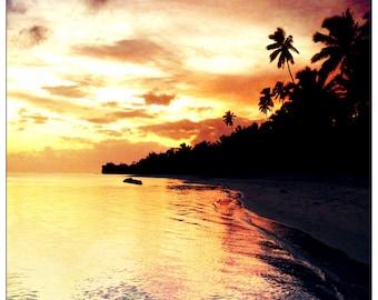 Rarotongan Sunset -Digital Photography, Nature, Nature Photo, Nature Photography, Landscape, Landscape Photography, Beach Photo, Beach Image