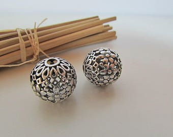 Pearl filigree 18 m silver colored - 3 mm hole - 471.34 metal