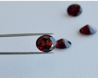 ON SALE Garnet 12x10 mm Faceted Oval / January Birthstone / Fine Quality Garnet Gemstone / Priced per piece