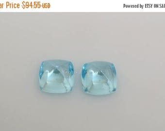 ON SALE Sky Blue Topaz 10x10 MM Sugar Loaf Pair. Excellent Color and Quality. Price per Pair.