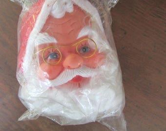 Santa Doll Head Vintage Doll Craft Supply Woolworth Christmas Decoration NOS NIP
