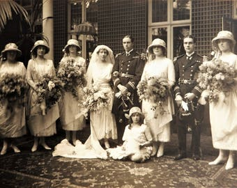 Antique wedding photograph original