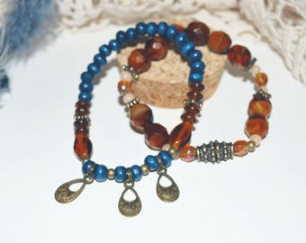 Duo of bracelets charms