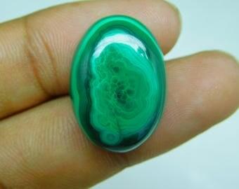 Best quality malachite oval cabochone high grade gemstone 35.15cts , 23x15x5mm malachite gemstone