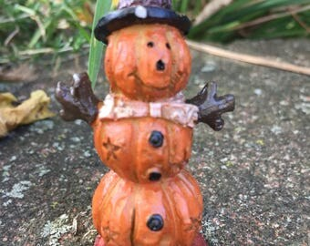 Miniature Stacked Pumpkin Man, Halloween Pumkin Stack, Fairy Garden Pumkins, Halloween, Pumpkin Man