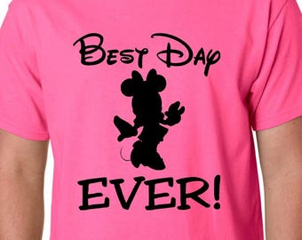Best Day Ever Disney Shirts, Mickey or Minnie character, Disney Family Shirts, Custom Personalized Disney Vacation Shirts