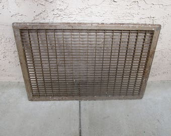 "Vintage Industrial Salvage Vent Cover 35"" x 22.75"" #NB"