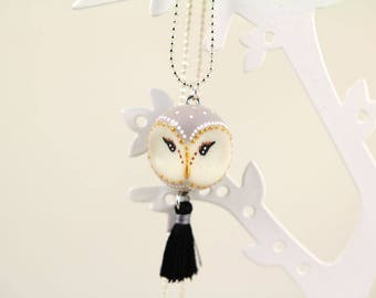 Necklace OWL barn