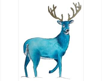 Reindeer Illustration Christmas Card