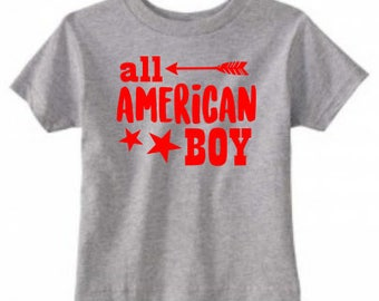 All American Boy - TODDLER Tees/Raglans - Made to Order