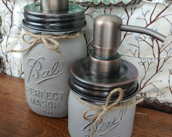 Vintage Ball Bathroom Set - anniversary edition - vintage ball pint - WOLF GREY - soap and sanitizer