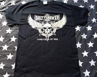 Bolt thrower overtures of war Australian tour t-shirt rare death metal cannibal corpse immolation suffocation morbid angel carcass sinister