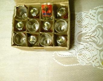 Orange County California Shot Glasses Set 12 New Old Stock Barware Free Shipping