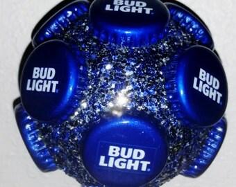 Bud Light beer bottle cap Christmas ornament