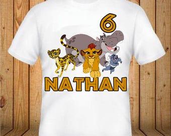 The Lion Guard Birthday Shirt - kids Birthday Shirts - Personalized Shirts - Custom Shirts - Kids - Birthday Shirts-