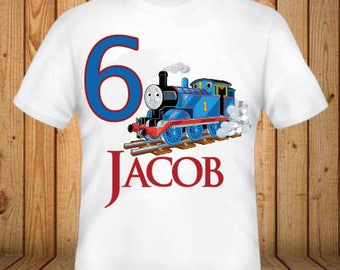 Thomas the Train Birthday Shirt - kids Birthday Shirts - Personalized Shirts - Custom Shirts - Kids - Birthday Shirts-