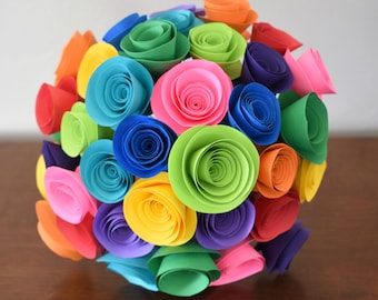 Colorful Wedding Bouquet, Bright Summer Wedding Flowers