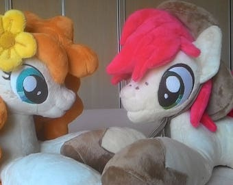 MLP plush-BRIGHT MAC-pony plush-Pear Butter-my little pony