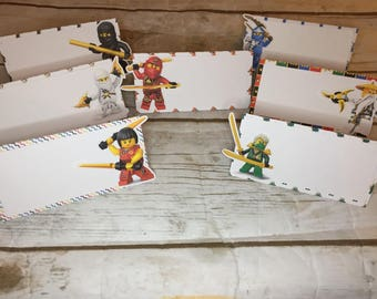 Ninja Placecards/Food Cards/ Birthday Party/Decorations