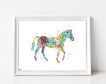 Horse, horse watercolor illustration, digital art, animal illustration, horse, horse, horse gift drawing image