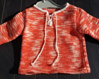 Mixed 6 months baby sweater, 100% cotton organic washable machine
