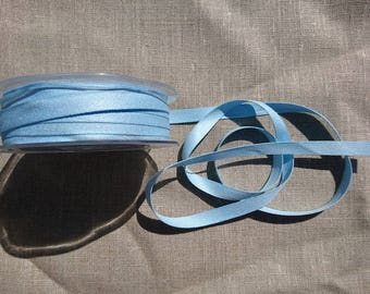 "Pack of 5m of ""Peach Skin"" ribbon 9mm / 05 Baby blue"