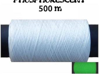 Spool of textured thread polyester – 500 m / Phosphorescent