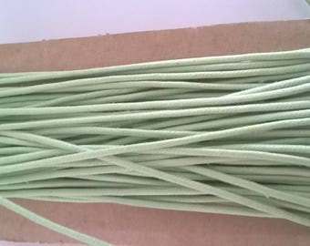 3.65 m green cotton cord Apple 2 mm
