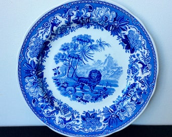 Spode Blue Room Collection Traditions Series Dinner Plate- Aesop's Fables