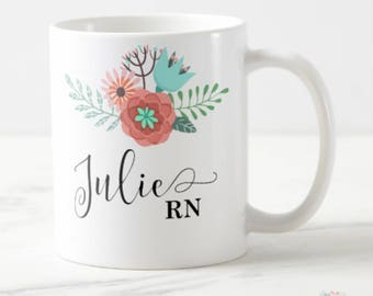 Nurse Appreciation Gift, Nurse Gift, Nurse Mug, RN Mug, Nurse Personalized Mug, Registered Nurse Gift, RN Gift, Nurse Graduation Gift, Mugs