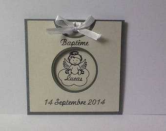 card congratulations baptism with envelope