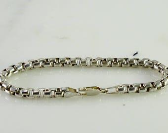 """Sterling Box Link Bracelet 8"""""""
