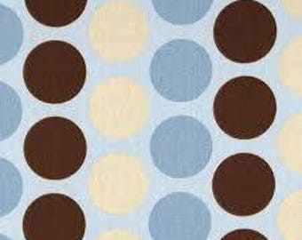Premier Prints Fabric | Fancy Dot Dot Fabric | Designer Fabric | Upholstery Fabric | Blue fabric | Fabric by the yard | Brown dot fabric
