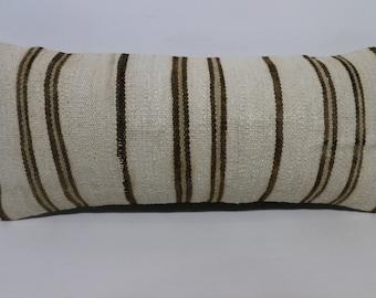 12x24 Washable Kilim Pillow Throw Pillow 12x24 Turkish Kilim Pillow Sofa Pillow Home Decor Lumbar Kilim Pillow Cushion Cover SP3060-1435