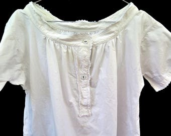 Linen Nightgown - Chemise  - Bohemian Style