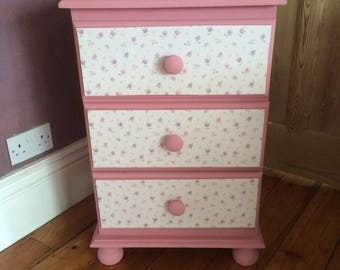 Painted bedside cabinet.