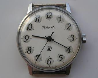 Old Watch RAKETA VINTAGE Russian Soviet Ussr - Serviced