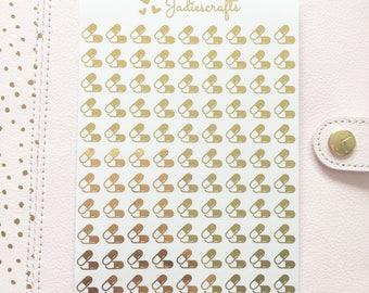 Foil Pills/Medicine/Tablet Stickers | Planner Stickers