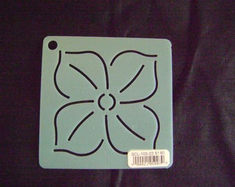 Sashiko Japanese Embroidery Stencil 3 in. Phlox Motif Block/Quilting