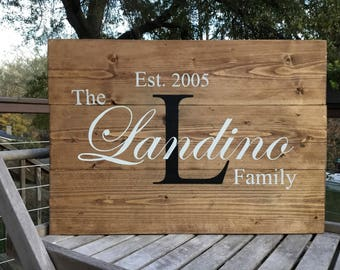 Family Established wood sign,Custom name sign,Personalized family sign,Wedding prop,Wedding gift,Bridal shower gift,Rustic sign,custom sign
