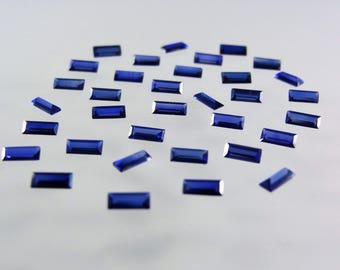 Blue Sapphire Baguette Step Cut Shape SIZE CHOICE Stones Loose Corundum Gemstones