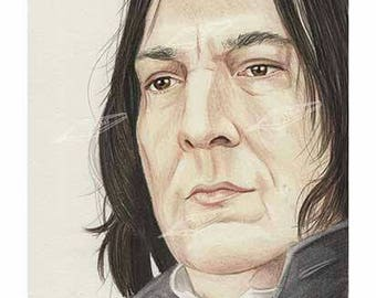 Professor Snape from Harry Potter Art Print