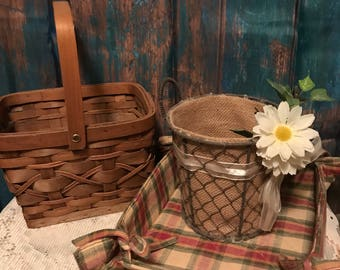 Farmhouse Country Baskets set of 3