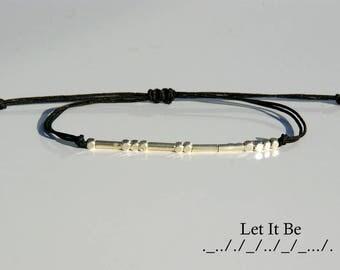Morse code bracelet-Morse code bracelet custom-Custom morse code bracelet-Sister morse code bracelet-Best friend morse code bracelet