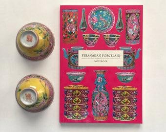 Peranakan Porcelain Notebook (Fuchsia)