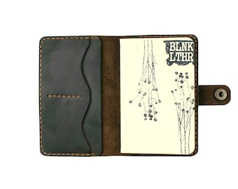 Leather field notes cover - personalized fieldnotes leather cover - field notes leather holder - field notes case - field notes wallet